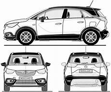 Opel Crossland X 2017 Blueprint Free Blueprint