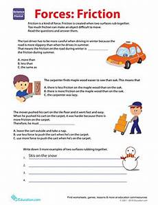 physical science forces worksheet 13085 learn about friction worksheet education