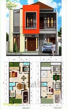 30 Denah Rumah Type 36 Desain Minimalis 1 2 Lantai