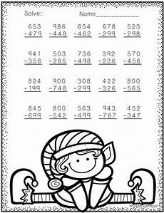 subtraction worksheets and answers 9985 3 nbt 2 themed 3 digit subtraction with regrouping 2nd grade math worksheets 2nd