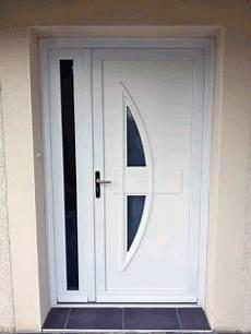 porte d entrée avec tierce pose d une porte d entr 233 e en pvc blanc mod 232 le ginseng