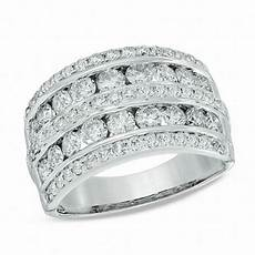 2 ct t w diamond multi row band in 14k white gold wedding bands wedding zales