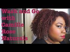 my wash and go routine using camille rose naturals youtube