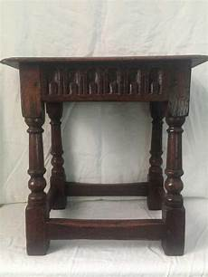 a oak joint stool 45 cm wide 29 cm 47 cm high