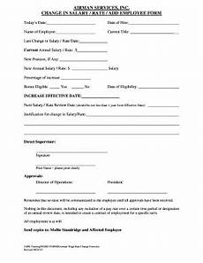 12 printable employee salary change form templates fillable sles in pdf word to download