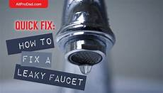 how do you fix a leaking kitchen faucet fix how to fix a leaky faucet all pro all pro