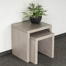 beistelltisch betonoptik 2 satztisch 44x44x36cm betonoptik grau beistelltisch
