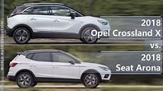 2018 Opel Crossland X Vs 2018 Seat Arona Technical