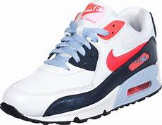 nike air max 90 youth gs schoenen wit rood