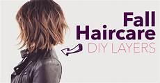diy winter layered haircut