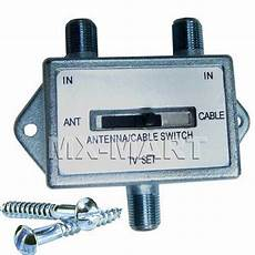 cable tv ab switch antenna 2 way splitter rg6 vcr
