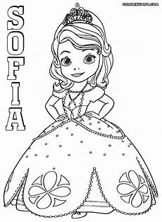 sofia the colorings coloring pages to and