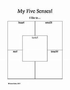 five sense worksheet kindergarten 12646 kindergarten five senses worksheet by leora cohen tpt