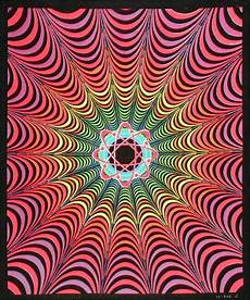 infinity atom blacklight reactive cloth wall hanging