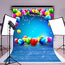 Colorful Balloon Wood Floor Studio Photography by 2020 Photography Backdrops 5x7ft Happy Birthday