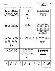 counting groups to 10 worksheet for kindergarten 1st grade lesson planet