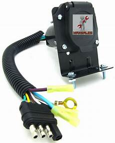 New 4 Flat To 7 Way Rv Trailer Light Wire Harness