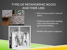 types of metamorphic rocks and their uses igneous rock rocks minerals technology lessons