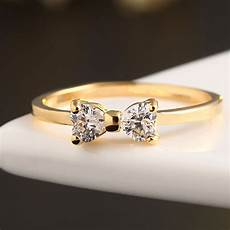 fashion austria crystal cz diamond rings gold plated finger bow ring wedding engagement rings