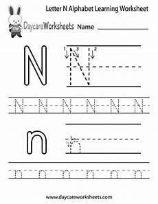 letter n phonics worksheets 24159 free letter n alphabet learning worksheet for preschool