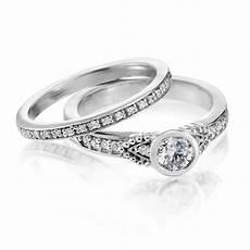 silver diamond wedding rings for diamondstud