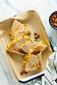 simple breakfast quesadillas recipe cookie and kate
