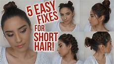 5 easy hairstyles for short hair no heat lazy day