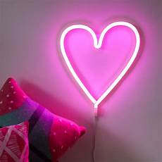 heart light for wall neon style led heart wall light by berylune notonthehighstreet com