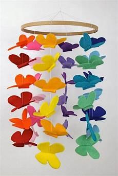 Schmetterling Mobile Schablone Basteln Mobile