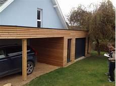 garage de garage bois toit plat 40m2 the baltic post