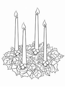 advent wreath coloring page supercoloring