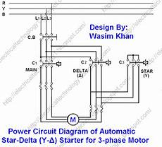 electrical technology the star delta y δ 3 phase motor starting method by automatic star