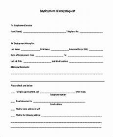 free 9 sle employment history forms in pdf doc