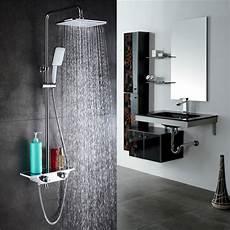 Duschset Mit Thermostat - homelody duschsystem regendusche duschset mit thermostat