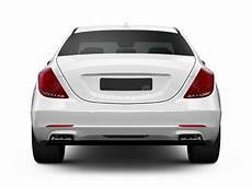 Rear View Of White Luxury Car Stock Illustration