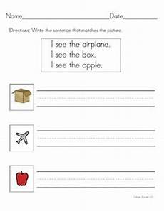 writing sentences using pictures worksheets 22240 writing sentences sentences and writing on