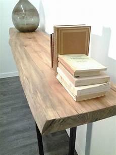 meuble bois massif brut console bois recycl 233 tony cosme