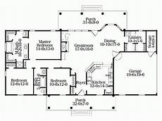 3 bedroom rectangular house plans southern style house plan 3 beds 2 baths 1670 sq ft plan