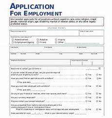 the importance of employment application pdf free application form