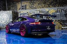 911 Gt3 Rs - ultraviolet porsche 911 gt3 rs poses with pink wheels