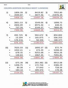 5th grade math worksheet addition math worksheets for fifth grade adding decimals