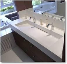 lavabo sur mesure plan vasque corian crea diffusion sp 233 cialiste