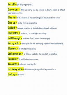 15 useful phrasal verbs worksheet