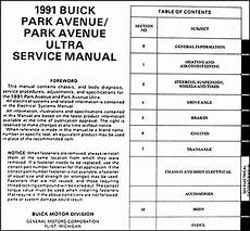 car repair manual download 1993 buick park avenue regenerative braking 1991 buick park avenue ultra repair shop manual original