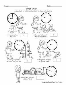free time sequence worksheets for 1st and 2nd graders