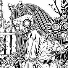 Ausmalbilder Erwachsene Horror Of Horror Coloring Book Projekty Do Wypr 243 Bowania