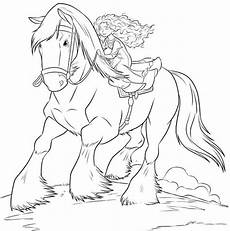princess merida was a trip up horses coloring pages