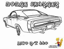 Muscle Car Coloring Pages Macho Printables