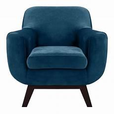 fauteuil velours bleu fauteuil copenhague en velours bleu commandez les