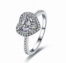 2ct 14k white gold heart shape vogue 2ct diamond engagement ring free gold maintenance